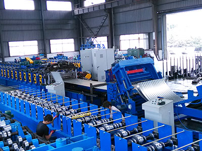 Double deck roll formng machine